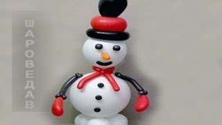 getlinkyoutube.com-Снеговик из шаров / Snowman of  balloons.