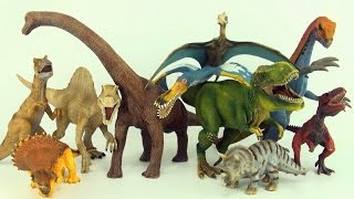 getlinkyoutube.com-Learn counting and dinosaur names with Schleich dinosaurs - Count to ten in english