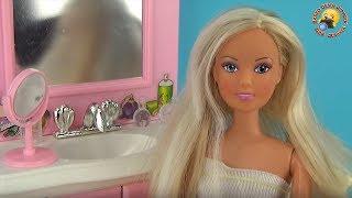 getlinkyoutube.com-Мебель для куклы «Ванная комната». Мультик «Первое свидание». Игровой набор для девочек bathe a doll