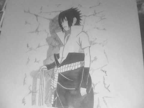 How To Draw Sasuke Uchiha Shippuden - By BankaiHollow12