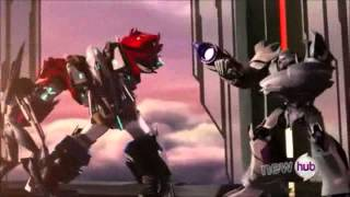 getlinkyoutube.com-Transformers beast hunters Optimus prime vs Megatron