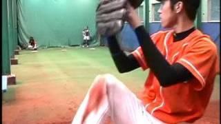 getlinkyoutube.com-森の真っすぐ (MAX148キロ剛速球左腕/甲子園経験者) Blazer 草野球 豪速球