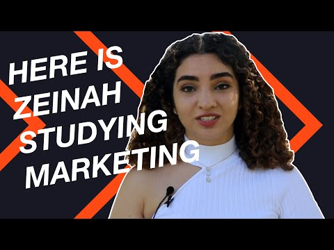 HERE IS ZEINAH STUDYING MARKETING