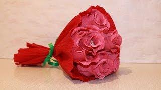 getlinkyoutube.com-Букет из конфет - Розы из конфет