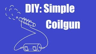 getlinkyoutube.com-Make a simple coilgun in 5 minutes