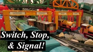 getlinkyoutube.com-Thomas and Friends Toy Train-Trackmaster Switch, Stop, & Signal Xpansion Pack!