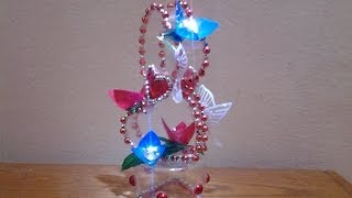 Best out of waste Plastic Bottle transformed to Lovely Heart Show piece