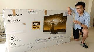 Sony BRAVIA ZD9/ Z9D 4K HDR TV Unboxing
