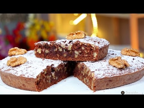 Choumicha : Gâteau au chocolat, dattes et noix شميشة : حلوى بالشكلاطة، التمر والجوز