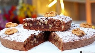 getlinkyoutube.com-Choumicha : Gâteau au chocolat, dattes et noix | شميشة : حلوى بالشكلاطة، التمر والجوز
