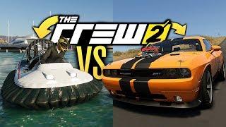 HOVERCRAFT vs CAR & BOAT in The Crew 2!