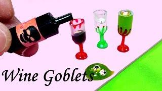 getlinkyoutube.com-Halloween DIY! Miniature Wine Glasses / Goblets (Realistic), Slime, & Eyeballs!