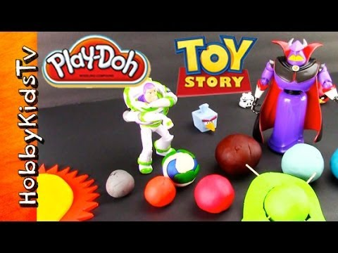 PLAY-DOH Planets Surprise Toy Eggs, BUZZ, ZURG -Toy Story, Star Wars, SpongeBob