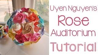 getlinkyoutube.com-Origami Rose Auditorium Tutorial