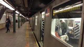 IRT Eastern Parkway Line: Manhattan & Utica Avenue Bound R142/A (5) Train @ Borough Hall