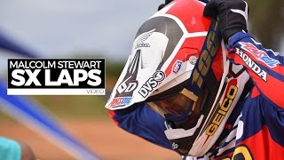 getlinkyoutube.com-RAW: Malcolm Stewart Supercross Laps (MXPTV)