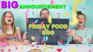 BIG Announcement! Friday Food Egg Giant Egg Cupcake!
