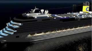 getlinkyoutube.com-3D Costa Concordia sinking - L'affondamento