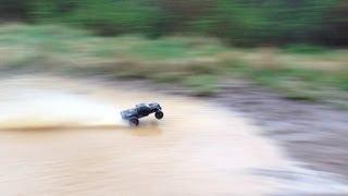 getlinkyoutube.com-Rustler vxl  water skipping and Hydroplaning!