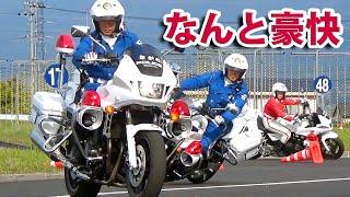 """""""迫力ありすぎ!"""" 白バイ1300マシンの超絶デモ走行 @全国白バイ安全運転競技大会特別訓練員2016   POLICE MOTORCYCLE OF JAPAN"""