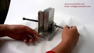 getlinkyoutube.com-Dual-axis Metal Channel Letter Angle Bender Bending Tools, Bending Width 150mm