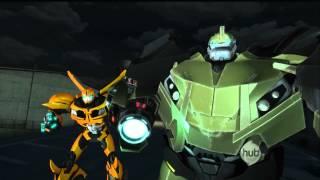 getlinkyoutube.com-TFP: Bumblebee, Bulkhead and Arcee vs Breakdown and Knock Out