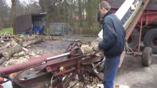 getlinkyoutube.com-Houtkloofmachine, houtklover