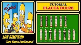 """getlinkyoutube.com-Los Simpsons en Flauta """"Con Notas Explicadas"""""""