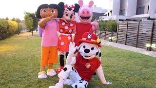 getlinkyoutube.com-dora la exploradora,peppa pig,minnie y marshall de la patrulla canina juegan al escondite ingles