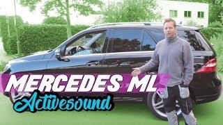 getlinkyoutube.com-Mercedes Benz Nachrüstung V8 Motorsound Active Sound Auspuffanlage ML63 AMG Schawe Car Design