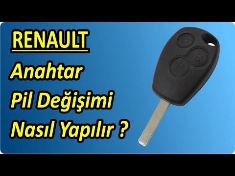 Renault Dacia Anahtar Pil Degisimi Nasil Yapilir   Key Battery Change Replacement