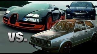 getlinkyoutube.com-16Vampir VW Golf 2 AWD vs Bugatti Veyron Super Sport vs AMS Nissan GTR Alpha 12+