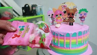 LOL Surprise Dolls Pet Cara Membuat Kue Ulang Tahun LOL Surprise - Menghias Kue Ultah Cake Kekinian width=