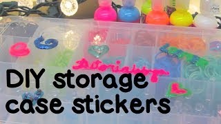 getlinkyoutube.com-How to Make Rainbow Loom Storage Case 3D Stickers