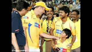 getlinkyoutube.com-Ilayathalapathy Vijay(South - Indian Actor ) cheering for CSK & MSD