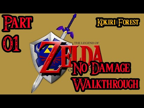 Zelda Ocarina of Time 100% Walkthrough Widescreen HD Part 1 - Kokiri Forest
