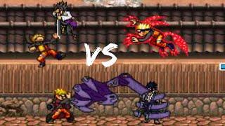 getlinkyoutube.com-Sasuke Uchiha (All Forms) vs Naruto Uzumaki (All Forms) - Bleach vs Naruto 2.5 Team Battles