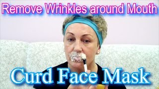 getlinkyoutube.com-How to Remove Facial Wrinkles around Mouth - Dairy Cottage Cheese Face Mask