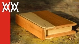 getlinkyoutube.com-Wooden book keepsake box. Valentine's Day gift idea!