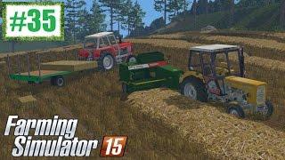 Prasowanie i zbieranie kostek - Farming Simulator 15 (Boluśowo V6) #35, gameplay pl