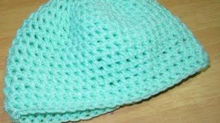 getlinkyoutube.com-قبعة كروشيه بسيطة - easy crochet hat DIY
