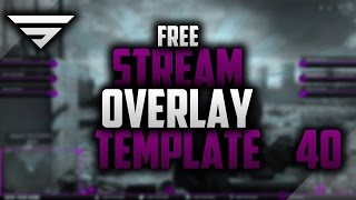 Free Twitch Overlay Template #40   Photoshop CC Seangraphicx