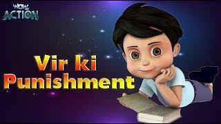 Hindi Cartoons for kids   Vir: The Robot Boy   Vir Ki Punishment   WowKidz Action width=