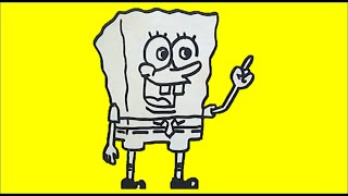 How to Draw SpongeBob SquarePants (Cara Menggambar SpongeBob)