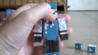 getlinkyoutube.com-Papercraft #7 Mi Skin y con armadura de DIAMANTE removible