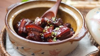 [Eng Sub]砂锅红烧肉 Chinese Braised Pork Belly in A Clay Pot