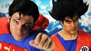 getlinkyoutube.com-Goku vs Superman.  Epic Rap Battles of History Season 3.