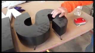 Como se hacen letras corporeas Polyfan PVC espumado leds / letterSystems
