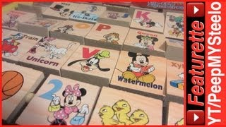 Disney Mickey Mouse Clubhouse Toys Alphabet Wood Blocks Educational Learning Toy For Kids