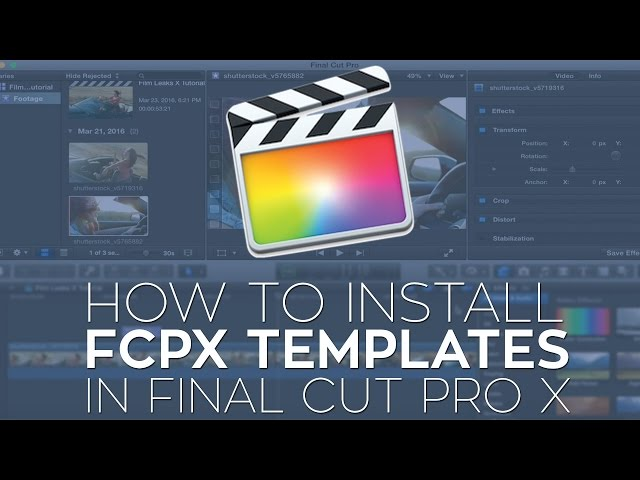 How to Install Rampant Final Cut Pro X Plugins and Templates « FCPX Tips